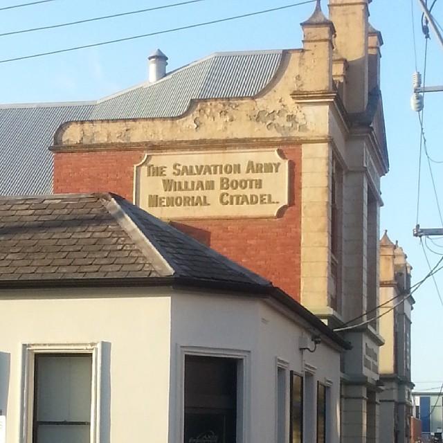 Old Salvation Army chapel Albert Street Ballarat #ghostsigns #ballarat