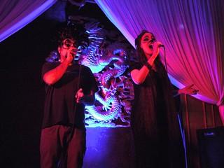 Adam Matta and vocalist at G&S Halloween '13