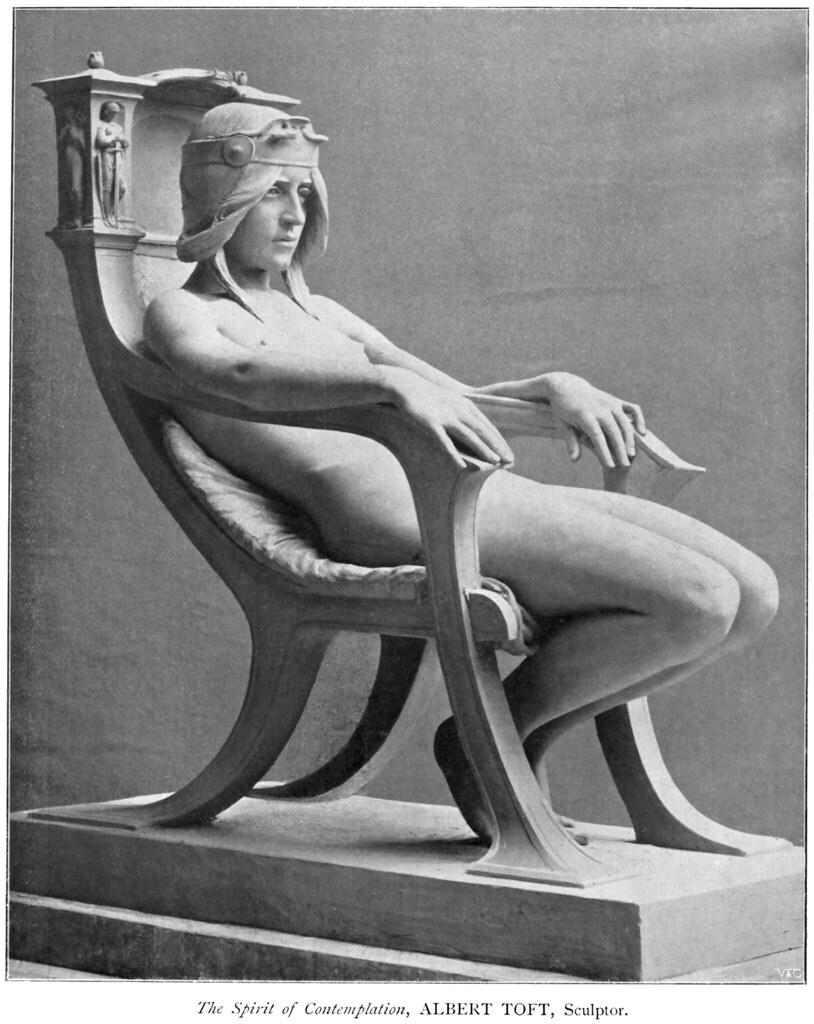Albert Toft (1862-1949) - The Spirit of Contemplation (plaster -q-) (1901)