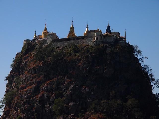 Mount Popa southeast of Bagan (Myanmar 2013)