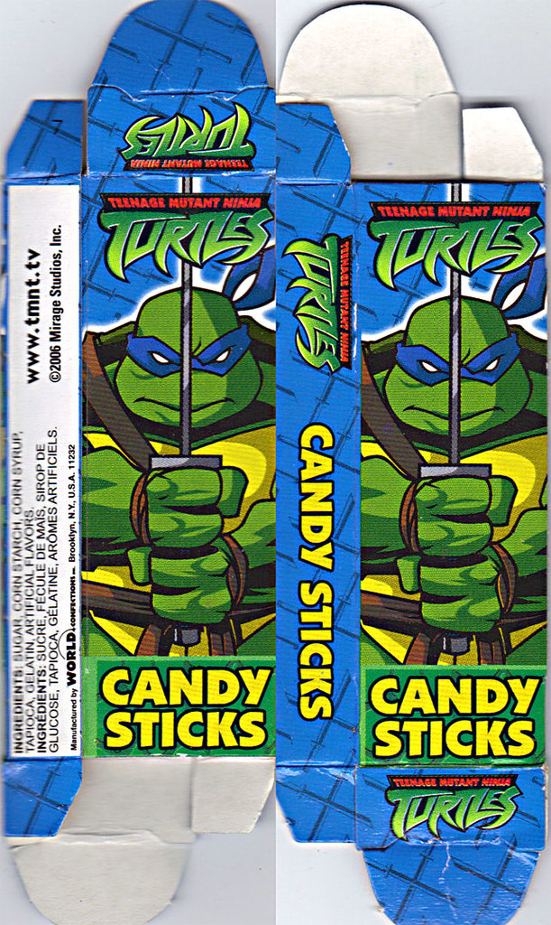 WORLD Confections :: COMIX MIX CANDY STICKS vi / ..'Leonardo' box  (( 2008 )) by tOkKa