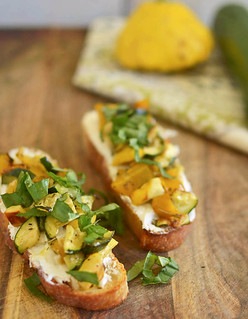 Roasted Vegetable Bruschetta via LittleFerraroKitchen.com | by FerraroKitchen1