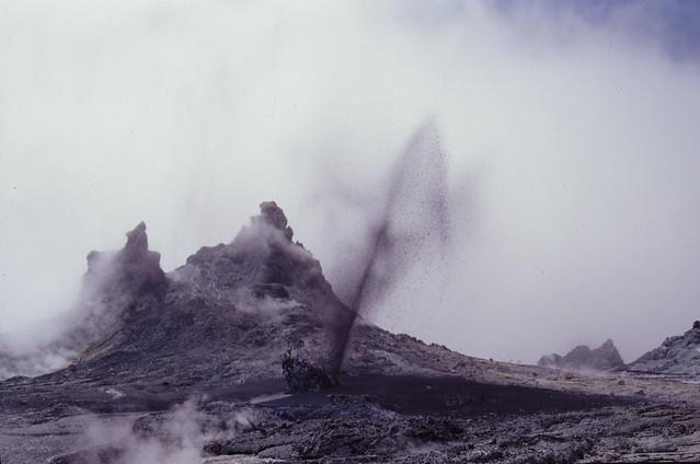 Natrocarbonatite Lava Fountain at Ol Doinyo Lengai