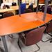 Cherry barrel boardroom table