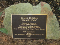 Serenity Falls memorial plaque