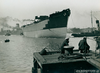 Launch of the cargo ship 'Thursobank'