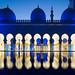 Abu Dhabi Blue Hour - Grand Mosque (2) by Karsten Gieselmann