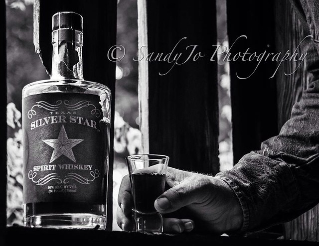 Texas Silver Star Whiskey - product shoot