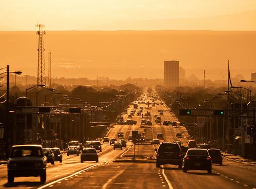 street sunset route66 nikon albuquerque nm centralave d800 tamron200500