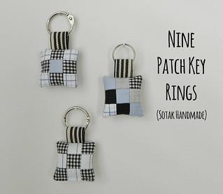 nine patch key rings