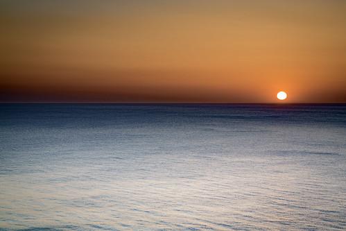 ocean sunset sea sky sun cornwall widemouthbay
