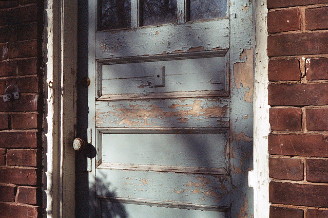 morning light, door to the cellar
