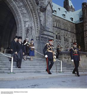 Major General Georges P. Vanier on the day of his inauguration as Governor General of Canada, 1959 / Le major général Georges P. Vanier lors de sa cérémonie d'entrée en fonction à titre de gouverneur général du Canada, en 1959