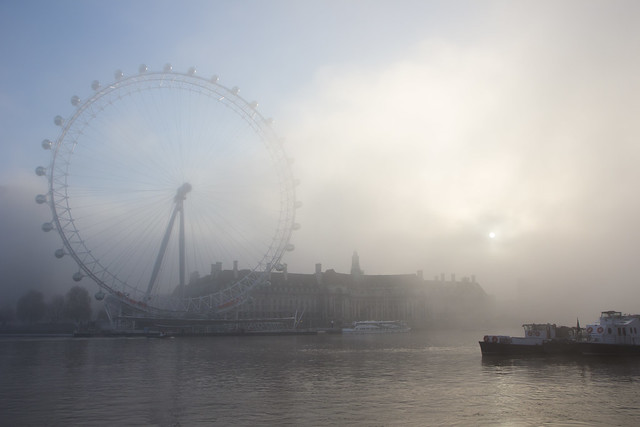 Father Thames and the Millennium Wheel