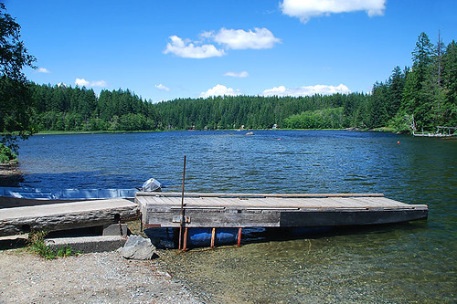 Village Bay Lake, Quadra Island, Discovery Islands, British Columbia, Canada