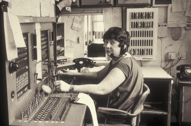 Hospital switchboard, 1970s
