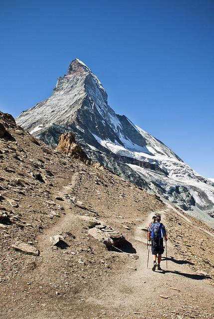 The way to the refuge of Matterhorn & Hörnli (The Hörnli Hut  ,Hörnlihütte ,)No, 1425.