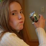 Sarah and cheekful of soda