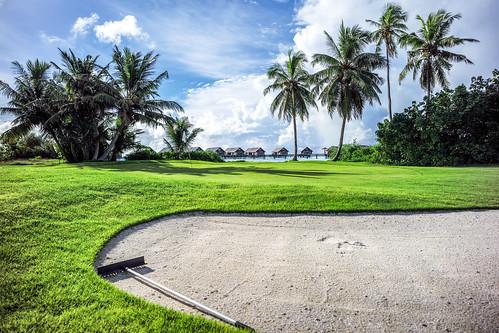 sea sky sun beach clouds golf sand maldives