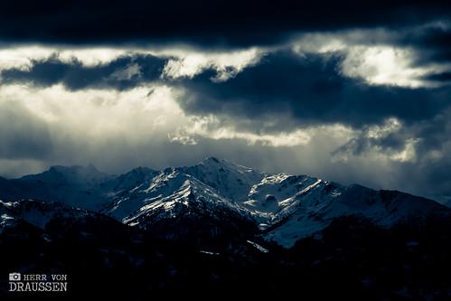 snow mountains alps clouds landscape austria tirol österreich europe alpine badweather hirzer tuxeralpen