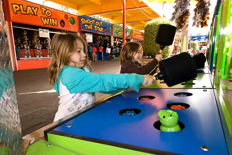 Whac-A-Mole at Playland Amusement Park, PNE Fairgrounds, Vancouver, British Columbia, Canada