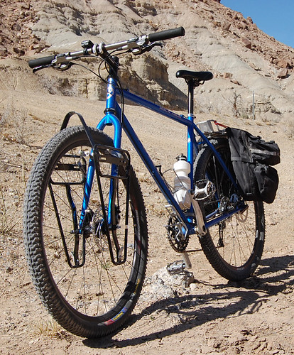 <p>John M. shows off  his Rock Tour, shown here near the San Raphael Swell in central Utah.  It's a 22 inch 29er in Gunnar Blue.</p>