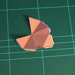 วิธีทำโมเดลกระดาษเรขาคณิตรูปกระต่าย (Rabbit Geometric Papercraft Model) 014
