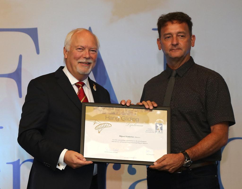 FAI President Dr John Grubbström and Miguel Gutierrez (Mex