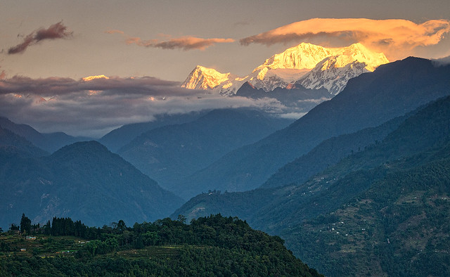 Sunrise in Sikkim