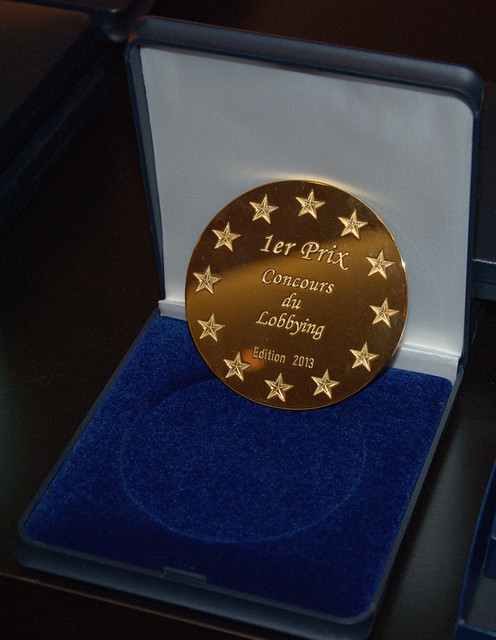 Médaille 1er Prix - Concours du Lobbying 2013