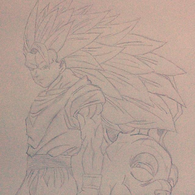Desenho 3 Goku Kakaroto Bills Ssj3 Supersaiyajin3 B Flickr