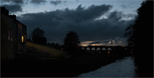 45699 crossing Whalley viaduct