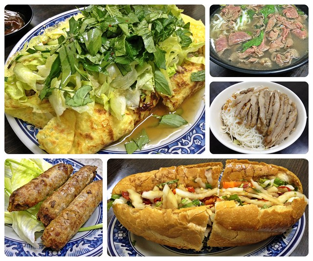 Phở Bò, Bún Thịt Nướng, Chả Giò Chiên, Bánh Xèo & Bánh Mì Thịt Nướng