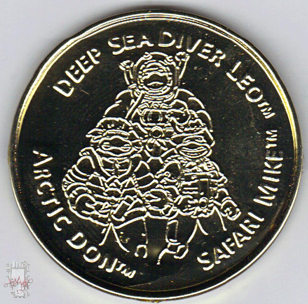 'ADVENTURERS' TEENAGE MUTANT NINJA TURTLES :: ARCTIC DONATELLO // .. Gold Metalized Kowabunga Collector Coin ii  (( 1995 )) by tOkKa