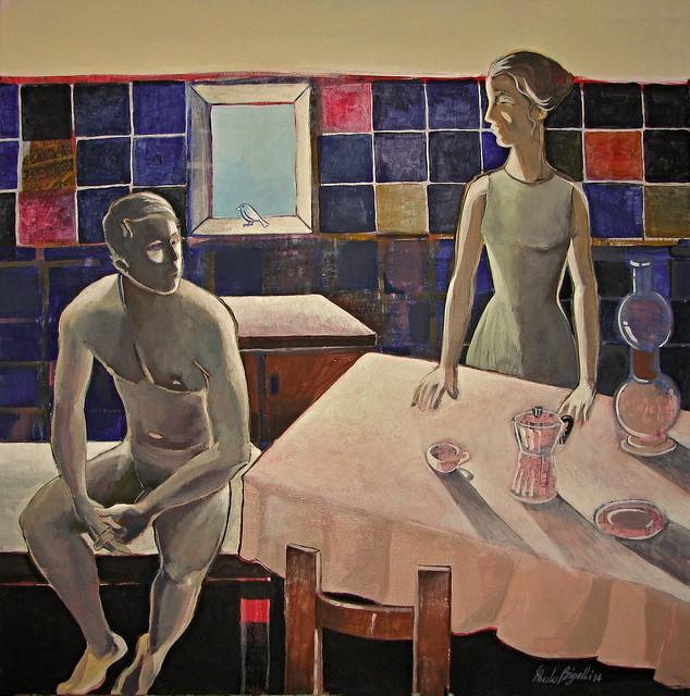 Coffee in a Blue kitchen