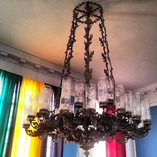 Chandelier and colors.   by BananaKatie