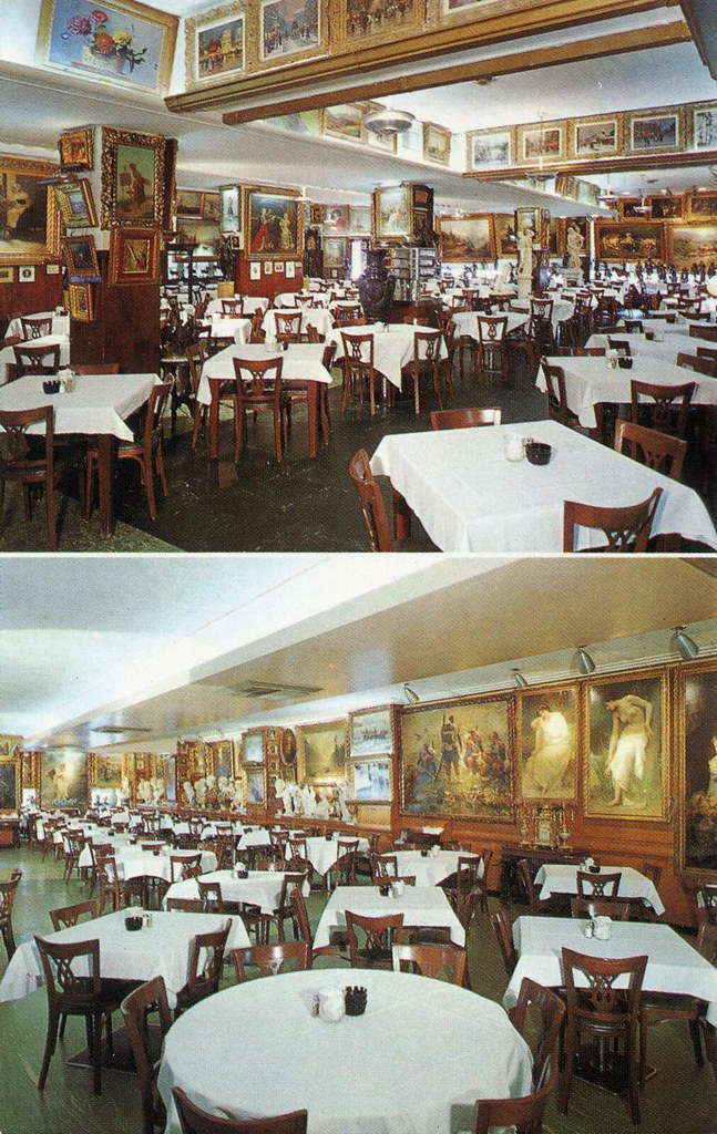 Hausner S Restaurant Baltimore Md Interior Views Showing P