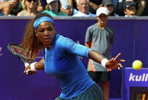 Serena Williams vann sin första match i Båstad