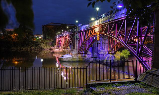 Pipe Bridge and Weir, Glasgow Green