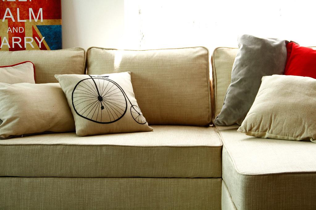 Ikea Manstad Sofa Cover Snug Fit Style Slipcover Linen C Flickr