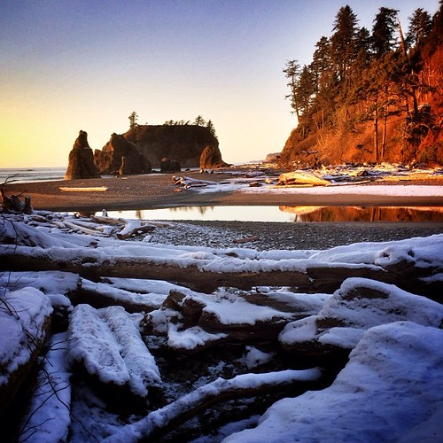 Snow-Dusted Sunset at Ruby Beach, December 7, 2013 #HDR | by Paul T. Marsh/PositivePaul
