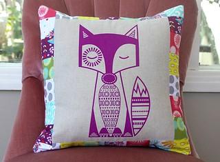 finn the fox cushion