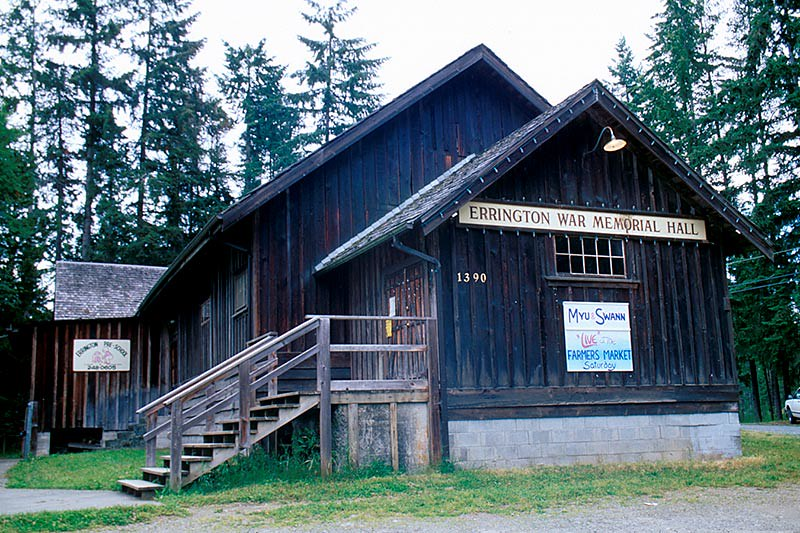 Errington War Memorial Hall, Errington, Vancouver Island, British Columbia, Canada
