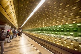Malostranská station - Prague   by Mathew Roberts