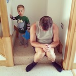 Grandpa on the naughty step!