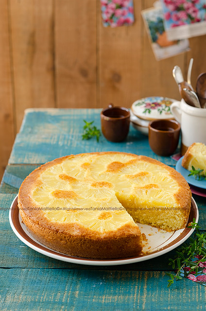 Torta all'Ananas Rovesciata-Pineapple Upside Down Cake