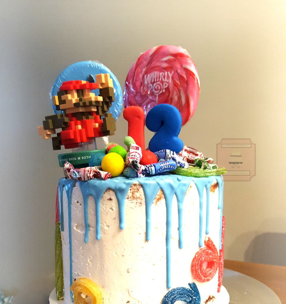 Strange Super Mario Bros Birthday Drip Cake 7In Super Mario Bros Flickr Funny Birthday Cards Online Elaedamsfinfo