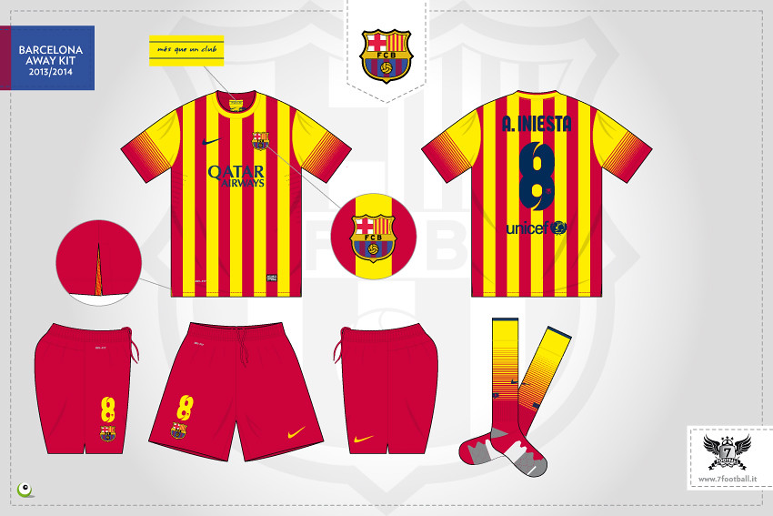 newest 8c845 957d9 Barcelona away kit 2013/2014   More images here: www.7footba ...