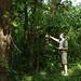 Aleš Opekar v mexické džungli (Palenque), foto: Helena Kočmídová