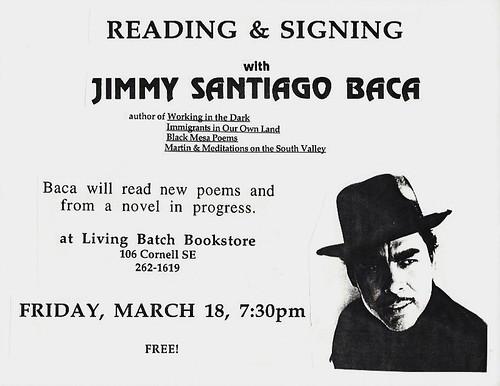 Living Batch Jimmy Santiago Baca
